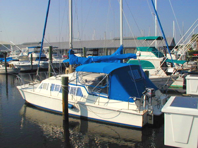 used catalac 27 catamaran for sale by owner moonshadow. Black Bedroom Furniture Sets. Home Design Ideas