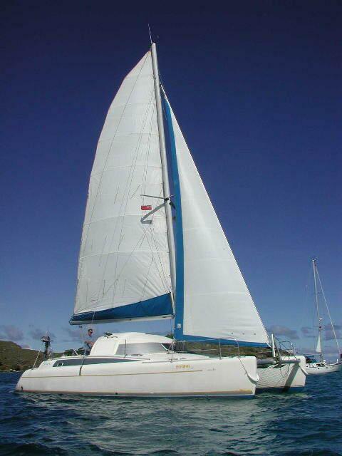used antigua 37 catamaran for sale by owner pelaginos. Black Bedroom Furniture Sets. Home Design Ideas