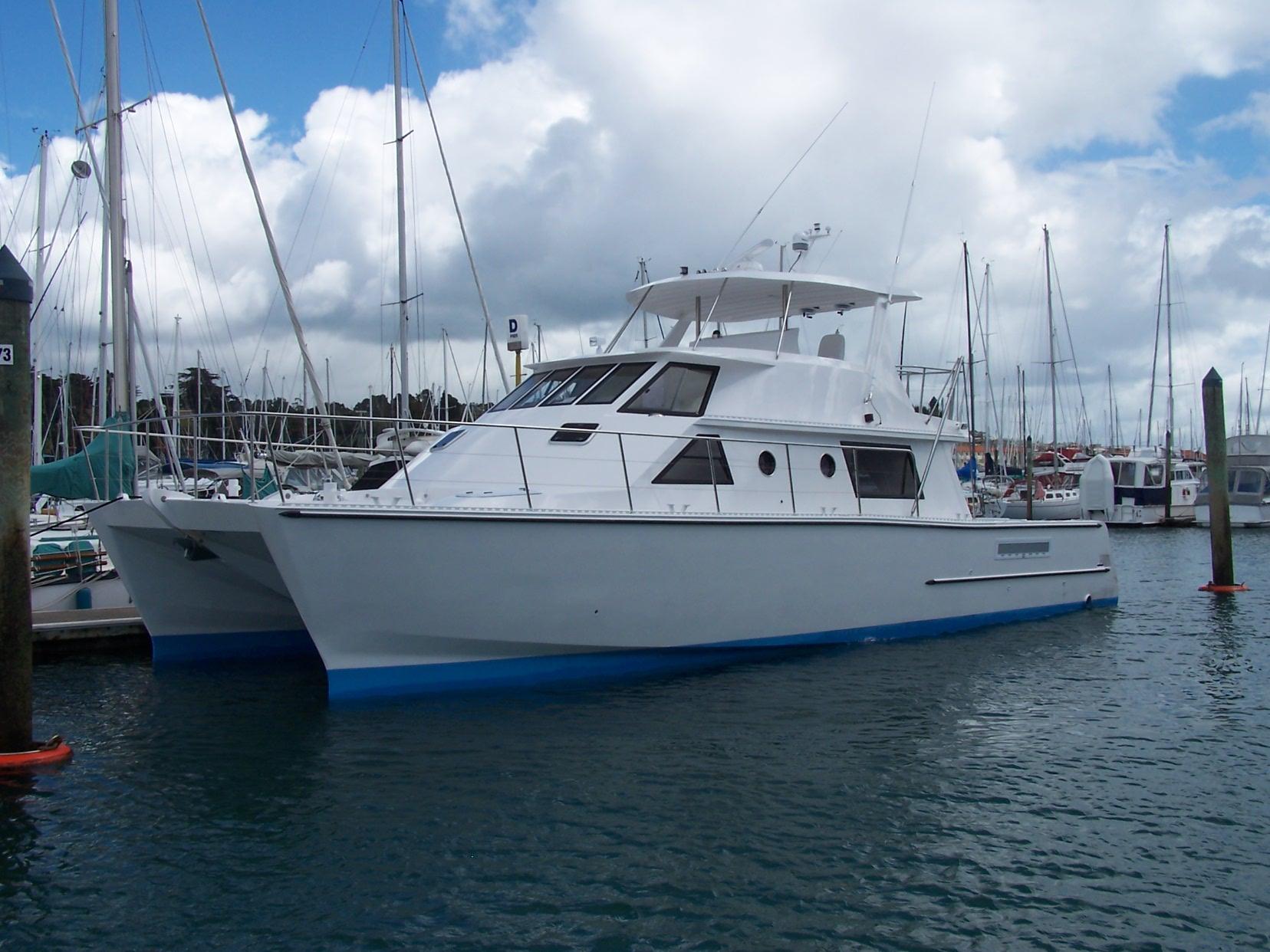 Used Custom Alloy 49 Power Catamaran For Sale Barracuda