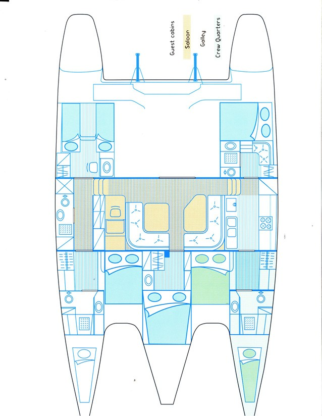 Engine Room Layout: Used Privilege 482 Catamaran For Sale