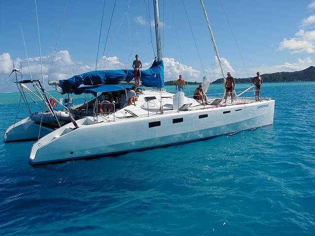 used roger simpson 50 u0026 39  slipstream 1 catamaran for sale
